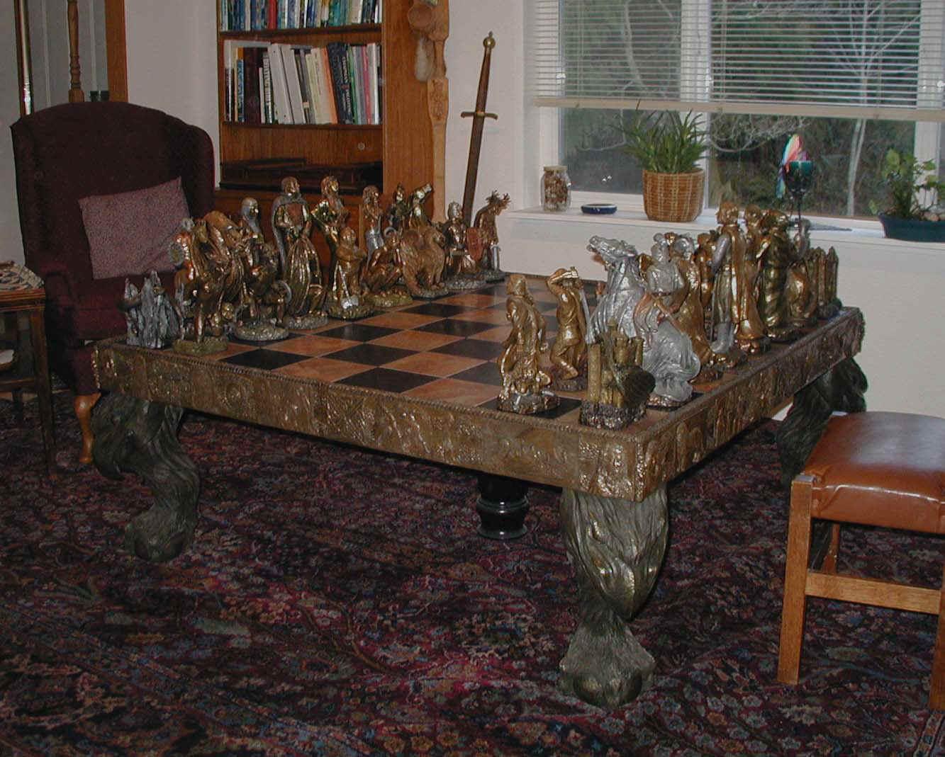 whole.jpg (156132 bytes). Arthurian Legend Chess Set & Chess Set